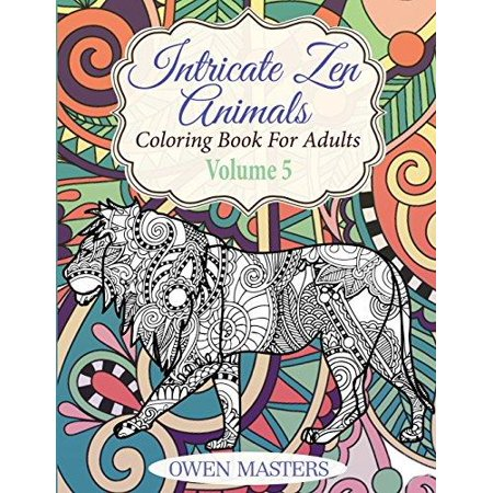 Intricate Zen Animals Coloring Book For Adults