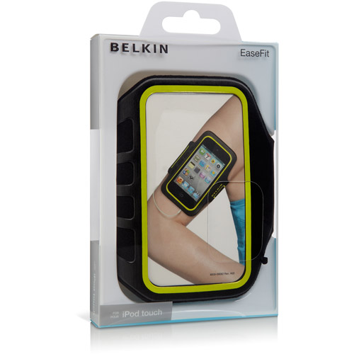 New OEM Belkin Black EaseFit Pouch Armband for Apple iPod Touch 4th Generation