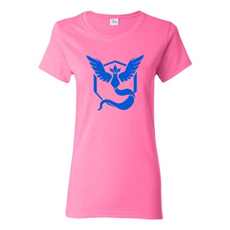9e305097b Pokemon Go Gym Team Mystic Blue Womens Tee T-Shirt Top