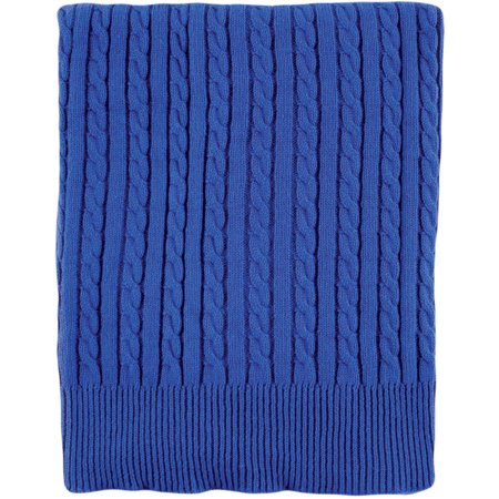 Hudson Baby Cable Knit Blanket Blue