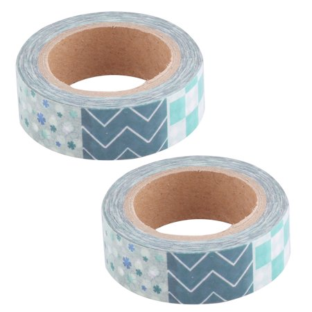 Decoration Tape (Household Festival Washi Paper Heart Pattern Decoration Tape 15mm x 10M 2)