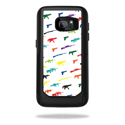 MightySkins Protective Vinyl Skin Decal for OtterBox CommuterSamsung Galaxy S7 Case wrap cover sticker skins Fun Guns