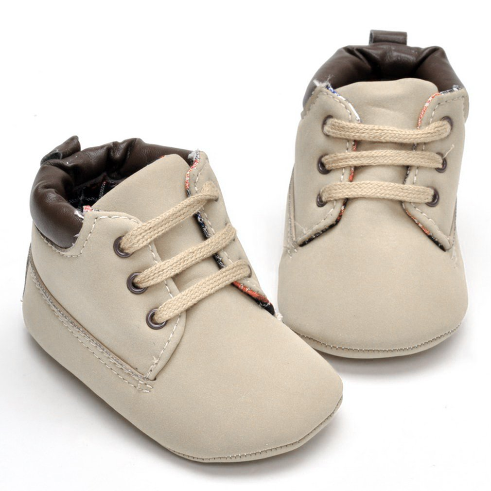 Baby Shoes First Walkers Lace-up Shoes Infant Toddler Soft Soled Boots Children's Flat Shoes