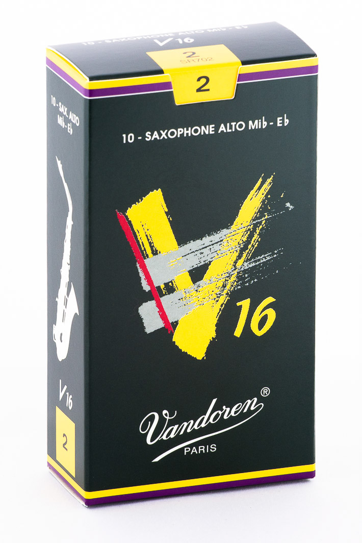 Vandoren Alto Sax V16 Reeds Strength #2; Box of 10 by Vandoren