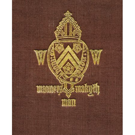 Winchester College Coat Of Arms And Motto Manners Makyth Man From Winchester College By Christopher Hawkes Published By Country Life Limited London 1933 Canvas Art - Ken Welsh  Design Pics (26 x