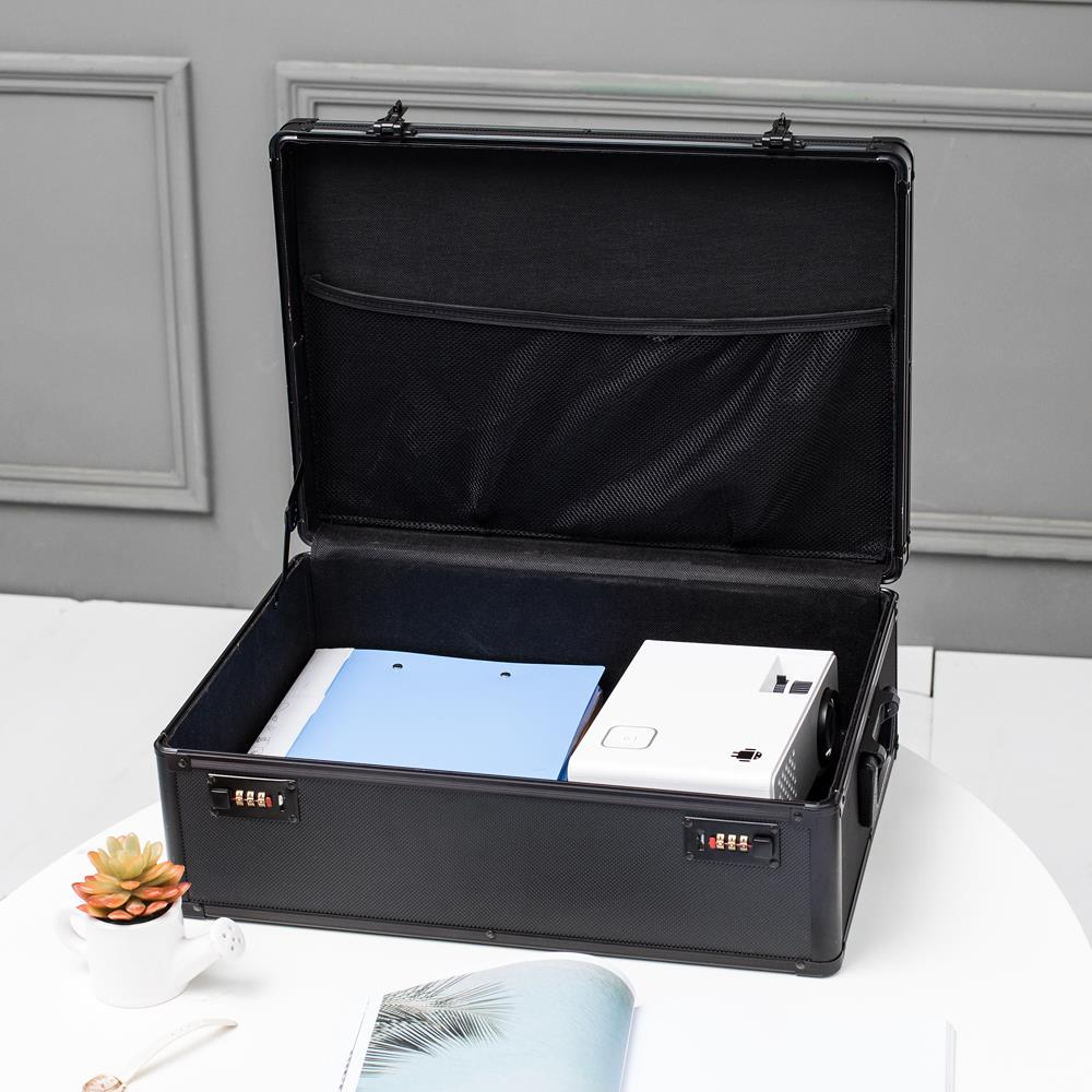 Ktaxon High Quality Wonderful Files Storage Password Organizer Black Waterproof and Rustproof Aluminum Alloy Storage Box