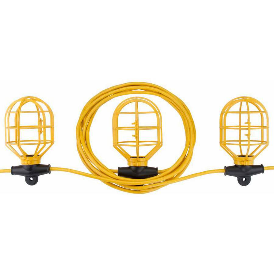 Bayco SL-7408 10-Light String Light with Non-Metallic Lamp Guards, 100'