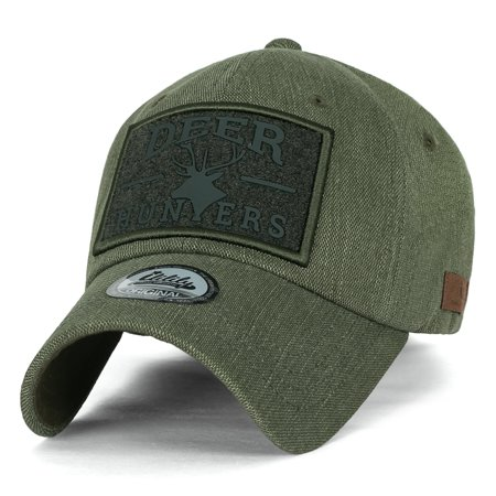 ililily DEER HUNTERS Velcro Patch Tactical Operator Hat Cotton Baseball Cap   e56b393f28e