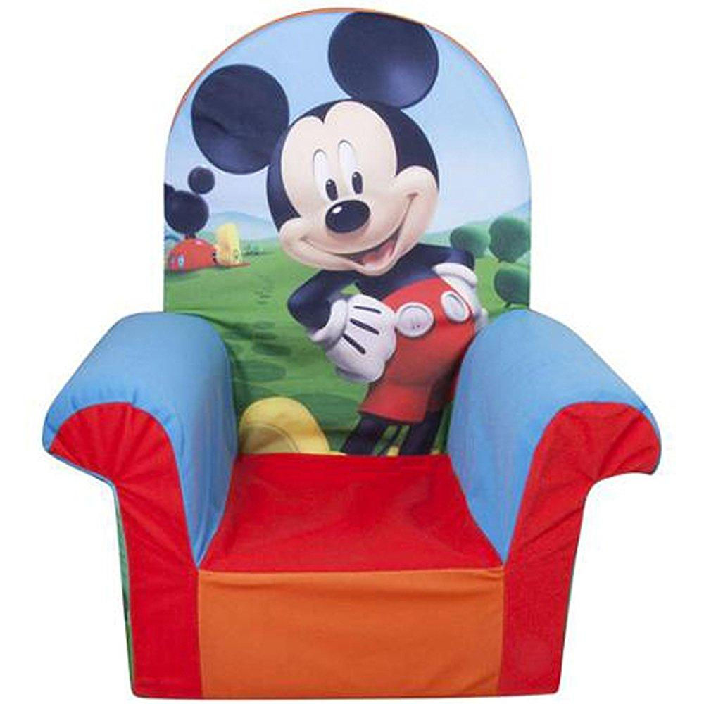 disney marshmallow high back chair mickey mouse club house furniture children new fun kids machine washable slipcover cozy foam toddler characters removable functional comfortable (1)
