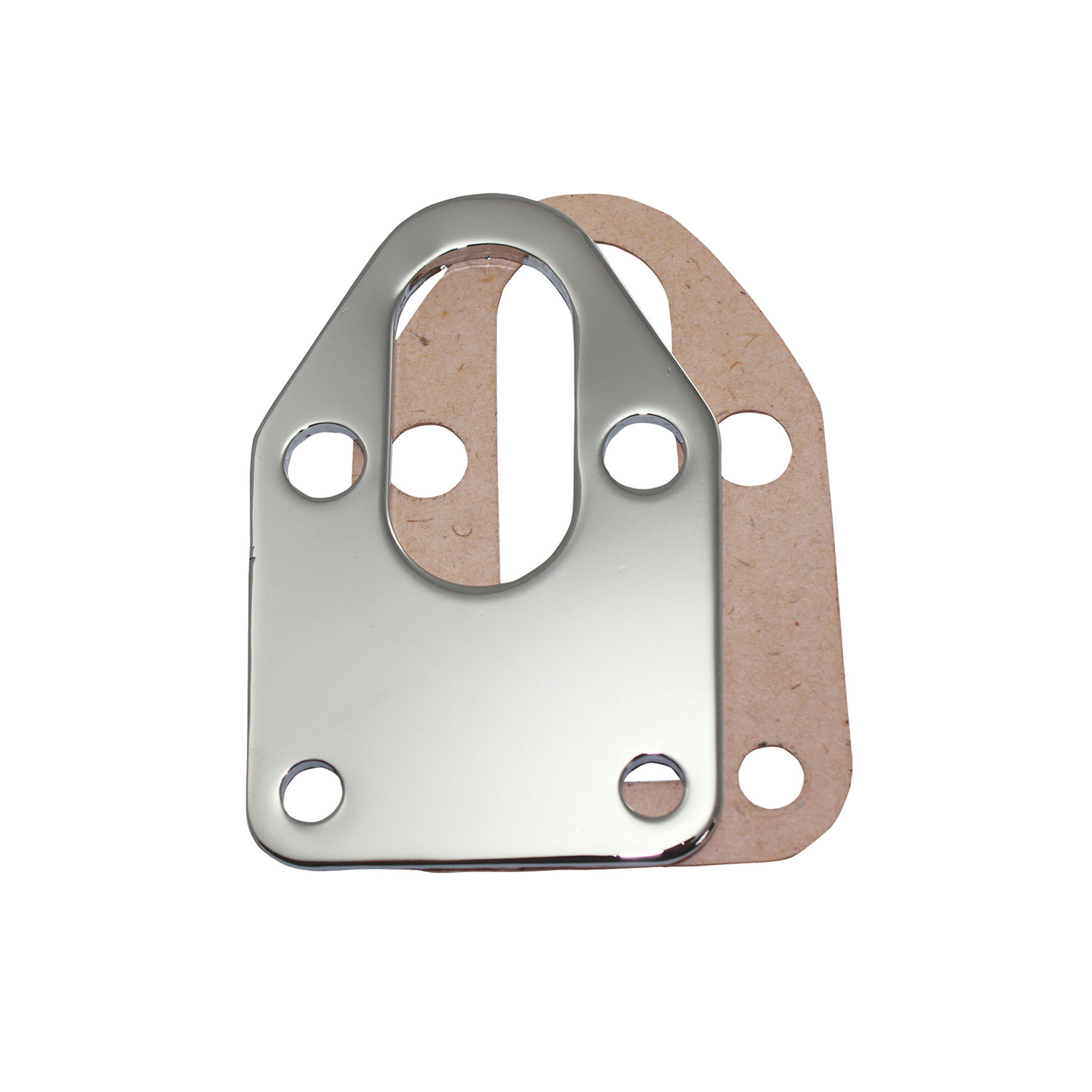 Chrome Fuel Pump Block-off Plate Chevy Small Block