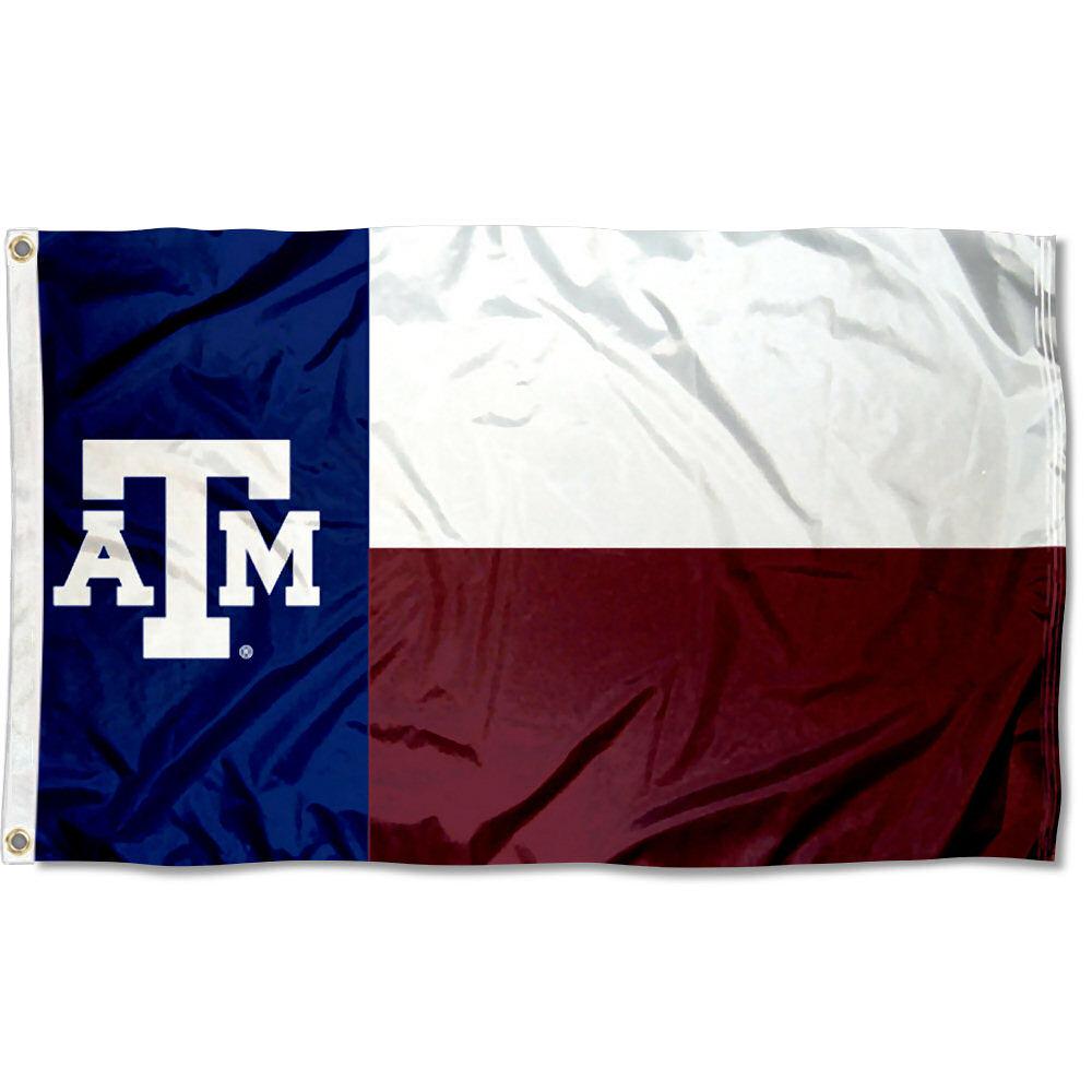Texas A&M Aggies State of Texas 3' x 5' Pole Flag