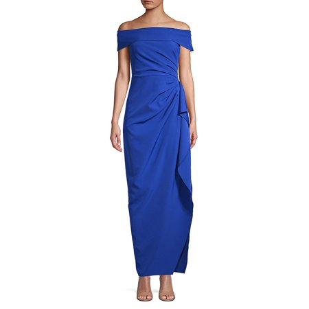 Off-The-Shoulder Sheath Dress (Voile Dress)