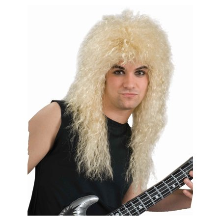 New 80s Rock Star Blond Feathered Costume Accessory Wig for $<!---->