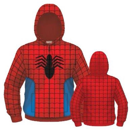 Spider-Man Spidey Suit Costume Full Zip Hoodie