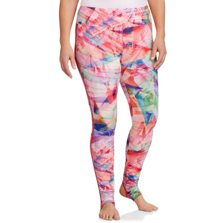 370054ace7798 Danskin Now - Women's Plus-Size Printed Performance Convertible Stirrup  Legging - Walmart.com
