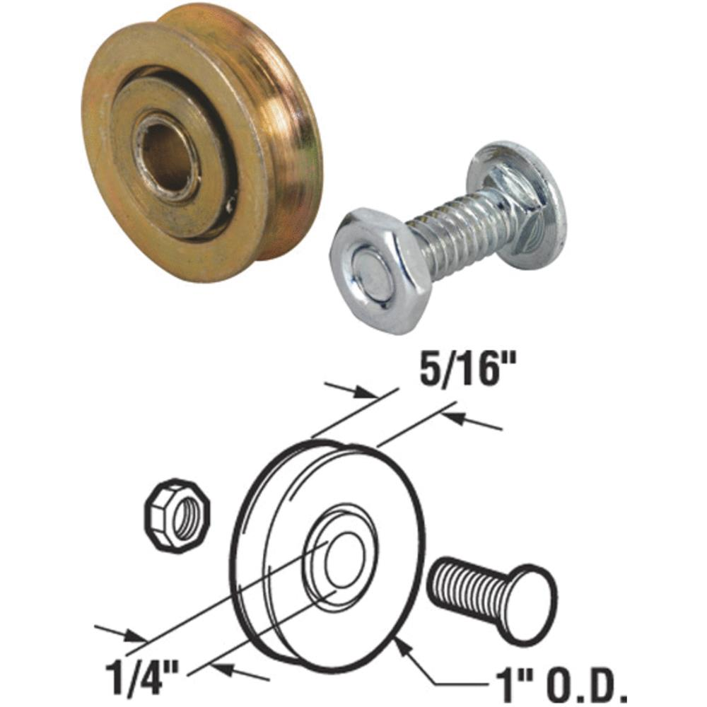 Prime Line Products 111894 Sliding Screen Door Roller Assembly, Universal, 2-Pk.
