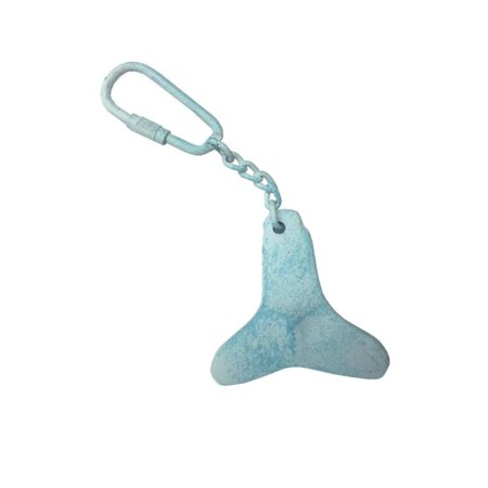 Light Blue Whitewashed Cast Iron Propeller Key Chain 5