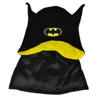 Batman Bat Ears Super Hero Cape Knit Beanie Black Toque DC Comics Cartoon Hat