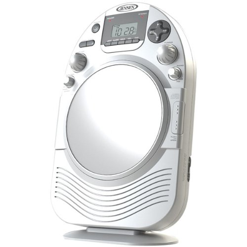 Jensen Am/fm Stereo Shower Radio And Cd Player With Fog Resistant Mirror - Cd-rw - Cd-da Playback - 1 Disc[s] (jcr-525)