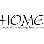 Design on Style  HOME where the people who love you live' Vinyl Lettering