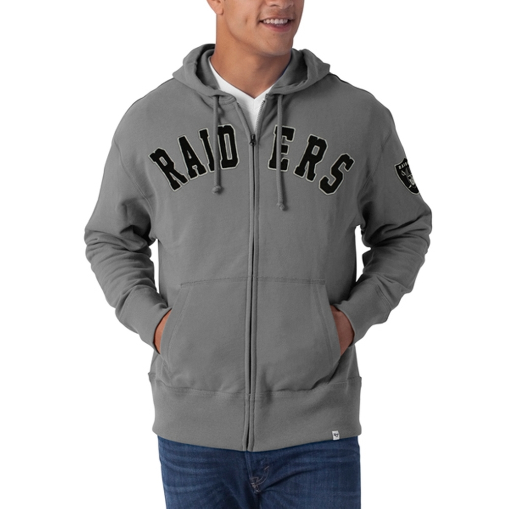 Oakland Raiders - Striker Full Zip Premium Hoodie - Large