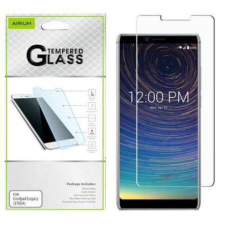 Coolpad LEGACY (3705A) Screen Protector Tempered Glass [9H Hardness] [Ultra-Clear] [Bubble Free] [High Definition] [Case Friendly] Tempered Glass Screen Protector for Coolpad Legacy / 3705A