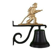 Montague Metal Products CB-1-91-GB Cast Bell With Gold Bronze Fireman Ornament