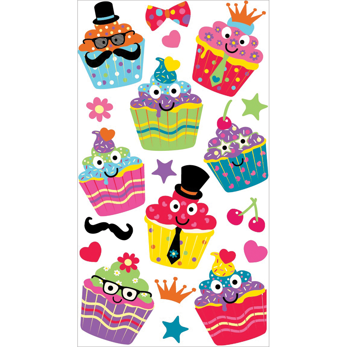 Sticko Stickers-Dress Up Cupcakes