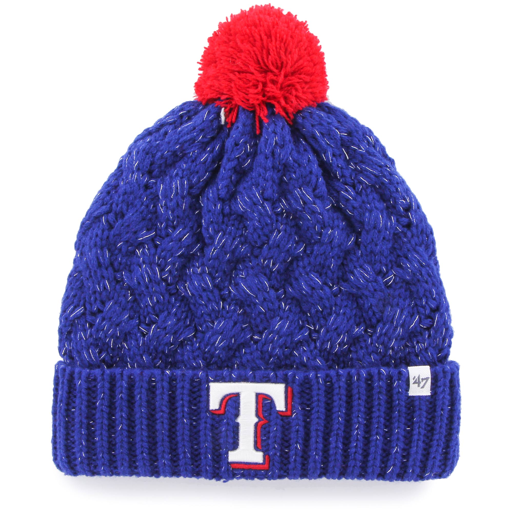 Texas Rangers '47 Women's Fiona Cuffed Knit Hat - Royal - OSFA