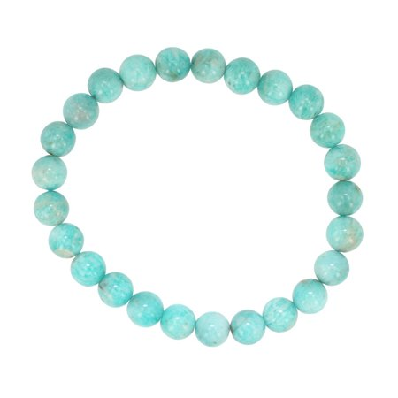 Feel Better Stone Amazonite Gemstone Energy Bracelet  7Mm Beads  7  Length   6677S