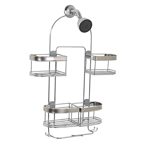 Expanding Convertible Showerhead and Handheld Stainless Steel Shower Head Caddy, Made from 304 stainless steel for maximum rust resistance By Zenith