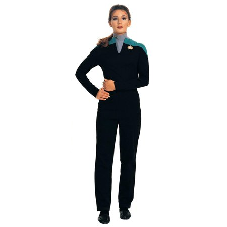 Star Trek Deep Space 9 Deluxe Lt. Dax Adult Woman Costume TEAL Size M - Women Space Costume