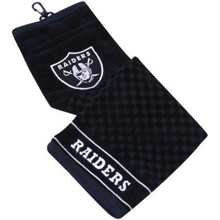 Team Golf NFL Oakland Raiders Embroidered Golf Towel