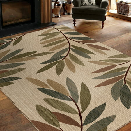 Orian Rugs Tangled Leaves Beige Area Rug Walmart Com