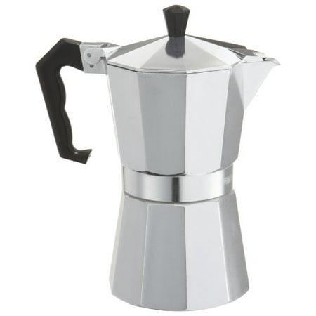 Primula Today Mario Espresso Maker - Aluminum - For Bold Full Body Espresso - Easy to Use - Makes 6 Cups (Tokyo Marui Full Metal)