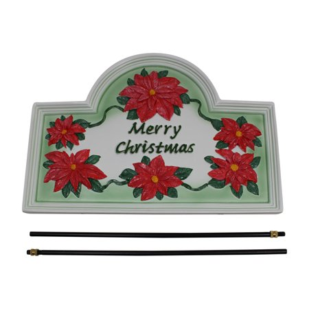 Plaque White Cast Metal Christmas With Stand | Renovator's Supply Metal Christmas Plaque