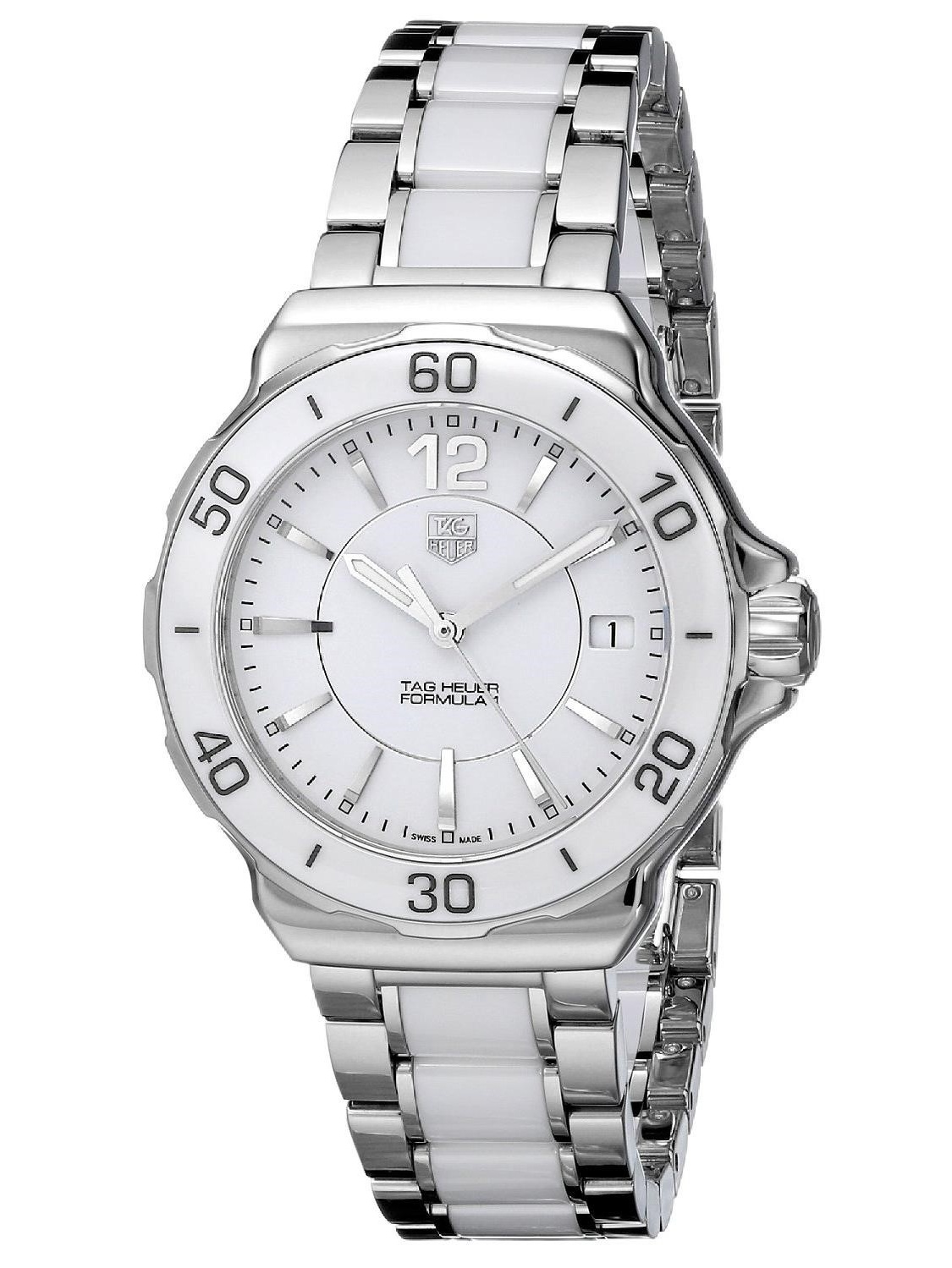 TAG Heuer Women's Formula 1 37mm Two Tone Steel Bracelet & Case Quartz White Dial Watch WAH1211.BA0861
