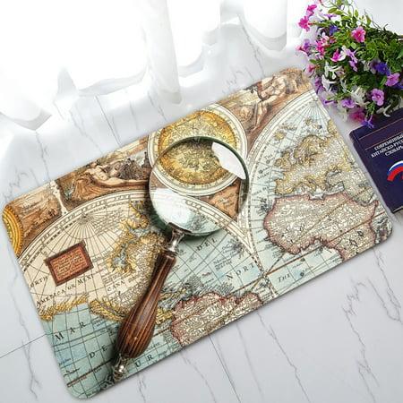 - YKCG Ancient World Map Doormat Indoor/Outdoor/Bathroom Doormat 30x18 inches