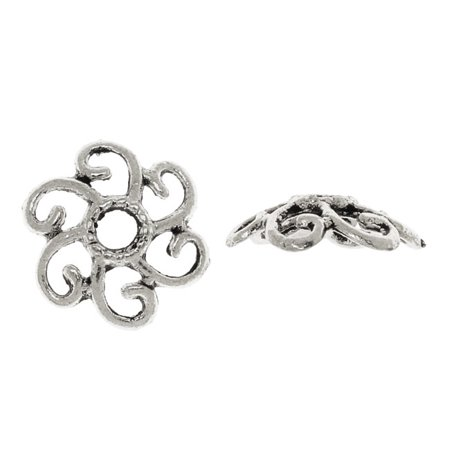 Lead-Free Pewter, Filigree Bead Caps 10.5mm, 6 Pieces, Antiqued Silver