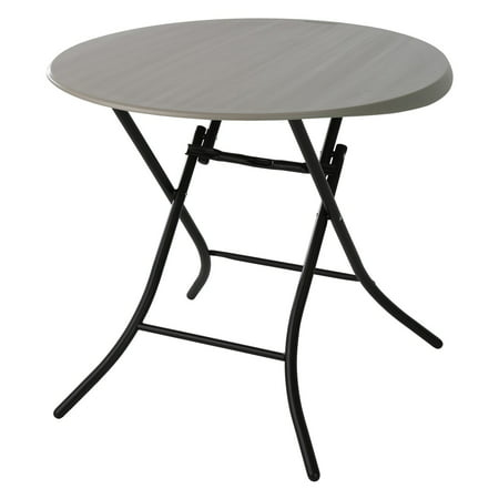 "Lifetime 33"" Round Folding Table, Gray Putty, 80230"