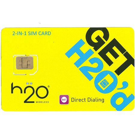 H2o Unlocked 2-in-1 Sim Card For Gsm Car