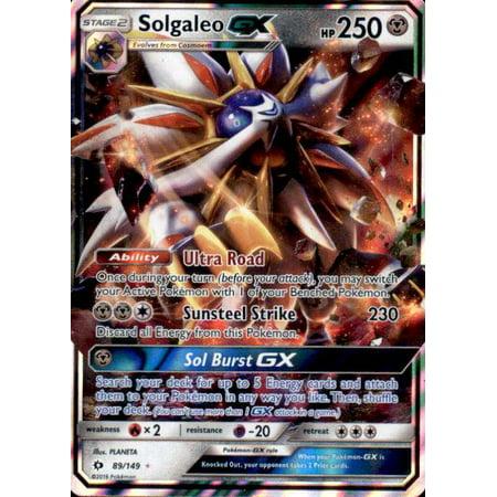 - Pokemon Sun & Moon Base Set Solgaleo-GX #89