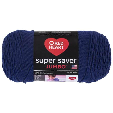 Red Heart Super Saver Acrylic Soft Navy Yarn, 1 Each - Halloween Crafts Using Yarn