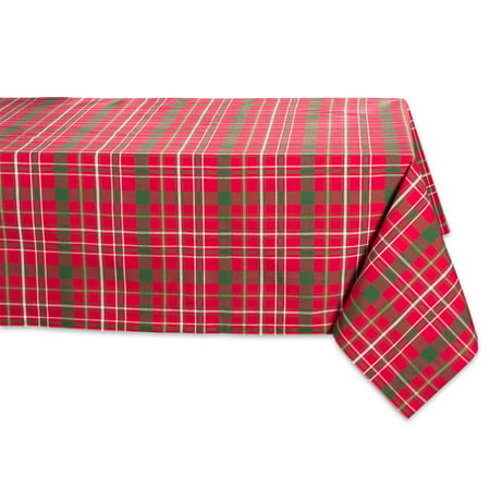 DII Classic Rectangle Tartan Holly Plaid Kitchen Tablecloth, 84