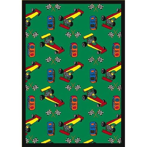 Joy Carpets Pit Stop Kids Area Rug
