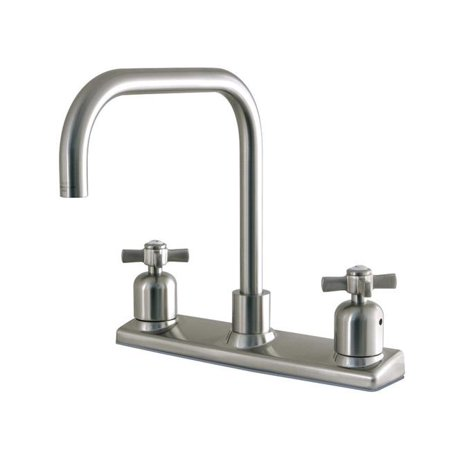 Kingston Brass FB2148ZX 8 in. Centerset Kitchen Faucet, Brushed Nickel - image 1 de 1