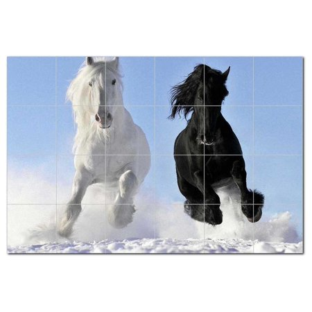 Horse Photo Ceramic Tile Mural Kitchen Backsplash Bathroom Shower 4052
