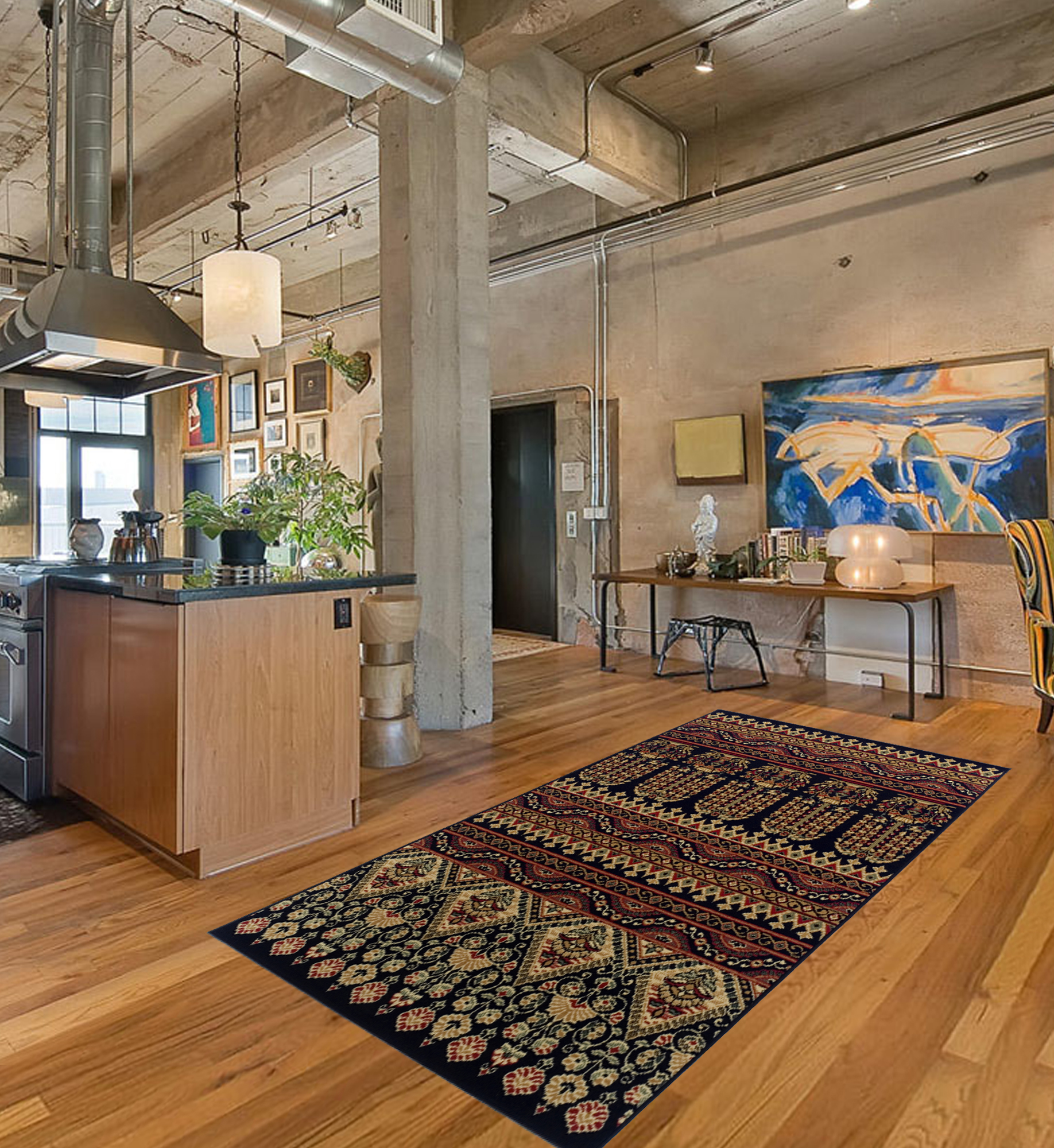 Superior Adena Moisture Resistant, Anti-Static Indoor Area Rug