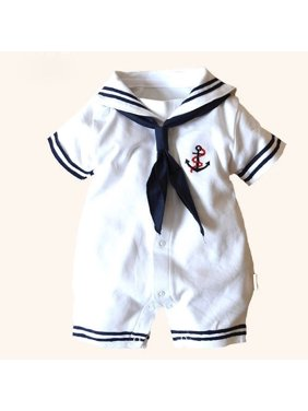 c75be3a506fa Product Image Newborn Baby Boy Infant Anchor Sailor Romper Jumpsuit  Playsuit Baby Grows Outfits 4-18M