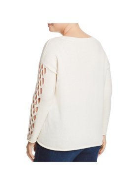 Vince Camuto Womens Braided Long Sleeve Sweater